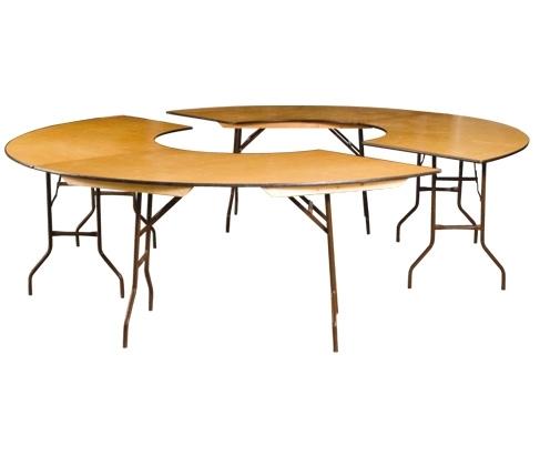 Location de buffet haut 2m x1m lecourtier location for Table quart de rond