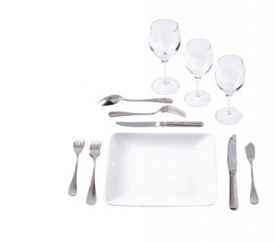 Assiette en porcelaine Plate carrée