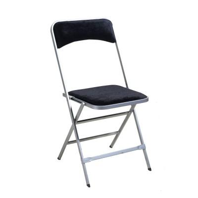 chaise velours noir