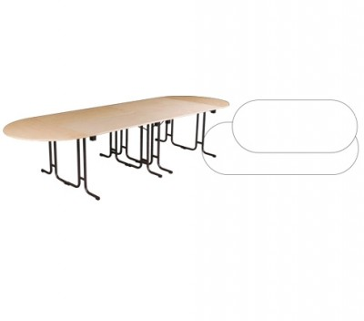 Location Table 1,20m x 0,60m assemblée en table ovale