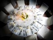 Quelques exemples de tables dressées avec notre vaisselle de table en location